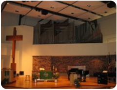 Much of the music in the sanctuary comes from these organ pipes.